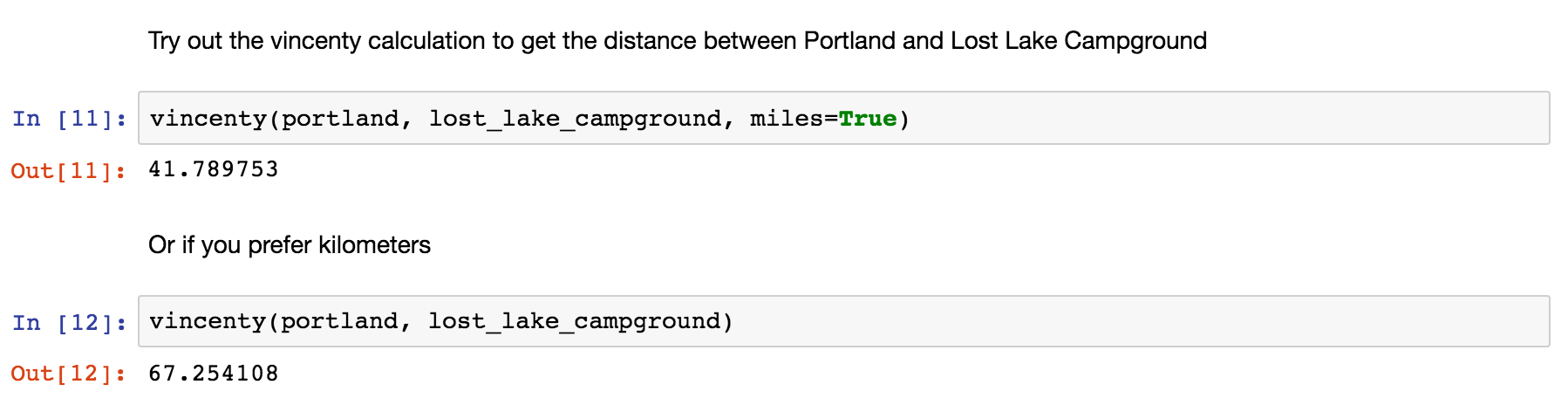 Distance: measurements between points - The Data Scout